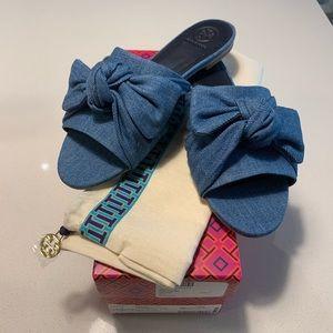 Tory Burch Denim Sandals